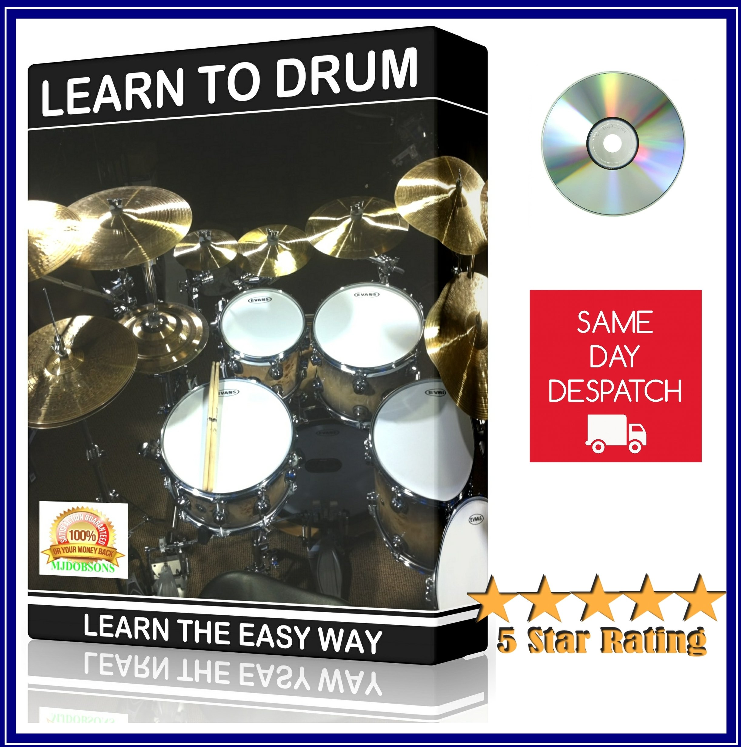 Drums For Beginners Instructional Tutorial DVD Learn How To