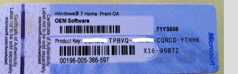 Windows 7 Home Premium Product Key Serial Keys 32/64 Bit ...